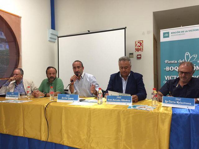 El presidente de ACERV, José Antonio Villodres, interviene en la mesa redonda «La protección del boquerón victoriano»