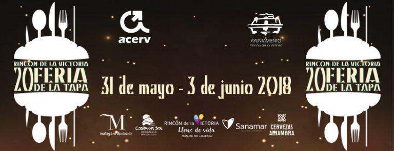 Rincón de la Victoria celebra la 20ª Feria de la Tapa del 31 de mayo al 3 de junio